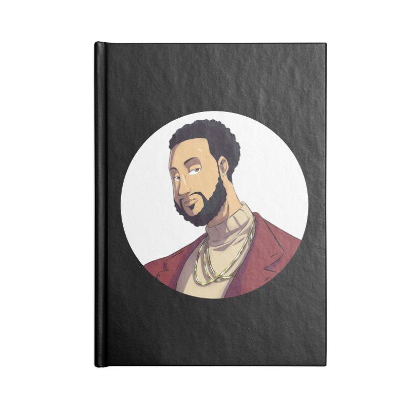 Portrait | Created by @cknightart Accessories Blank Journal Notebook by Eric Washington's Merch Shop