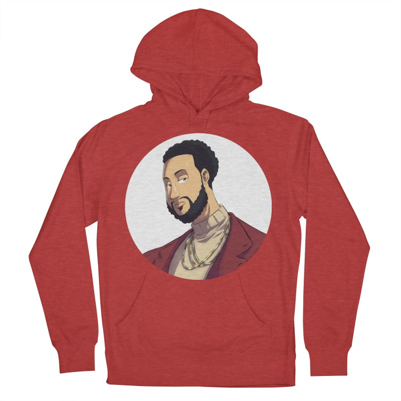 Portrait   Created by @cknightart Women's French Terry Pullover Hoody by Eric Washington's Merch Shop