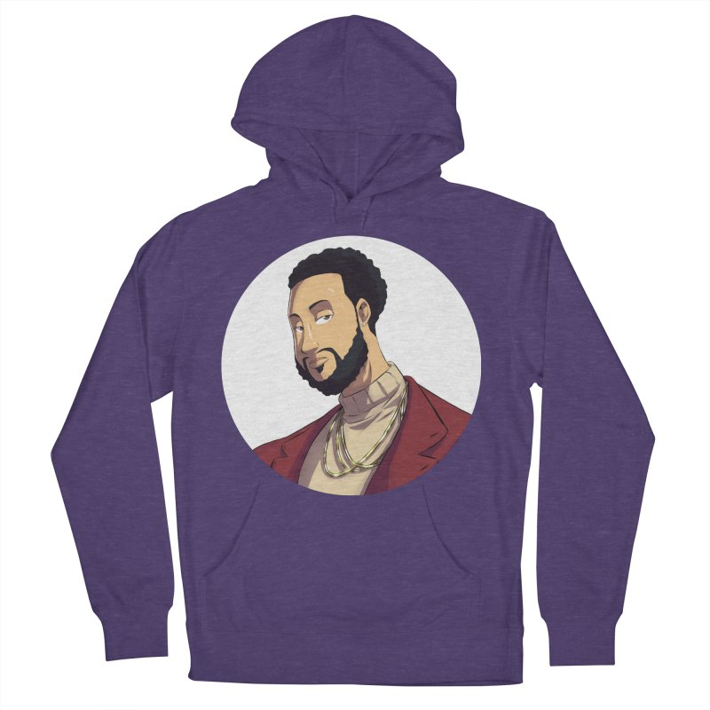 Portrait   Created by @cknightart Men's French Terry Pullover Hoody by Eric Washington's Merch Shop
