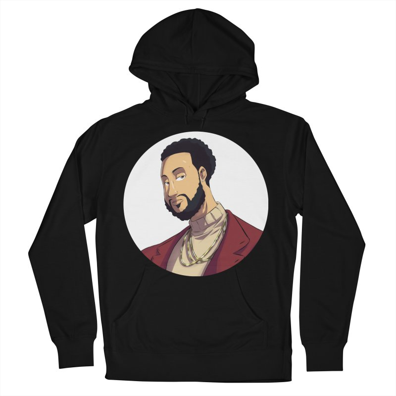 Portrait | Created by @cknightart Men's French Terry Pullover Hoody by Eric Washington's Merch Shop