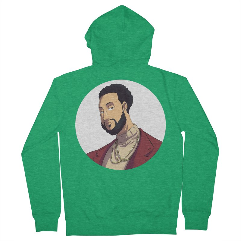 Portrait | Created by @cknightart Women's French Terry Zip-Up Hoody by Eric Washington's Merch Shop