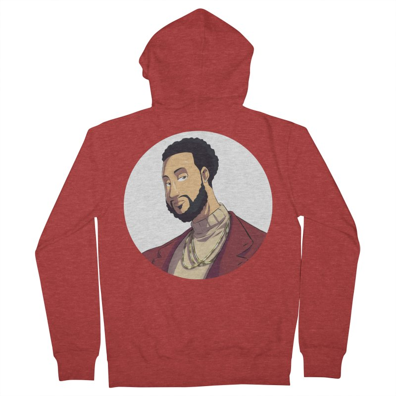 Portrait | Created by @cknightart Men's French Terry Zip-Up Hoody by Eric Washington's Merch Shop