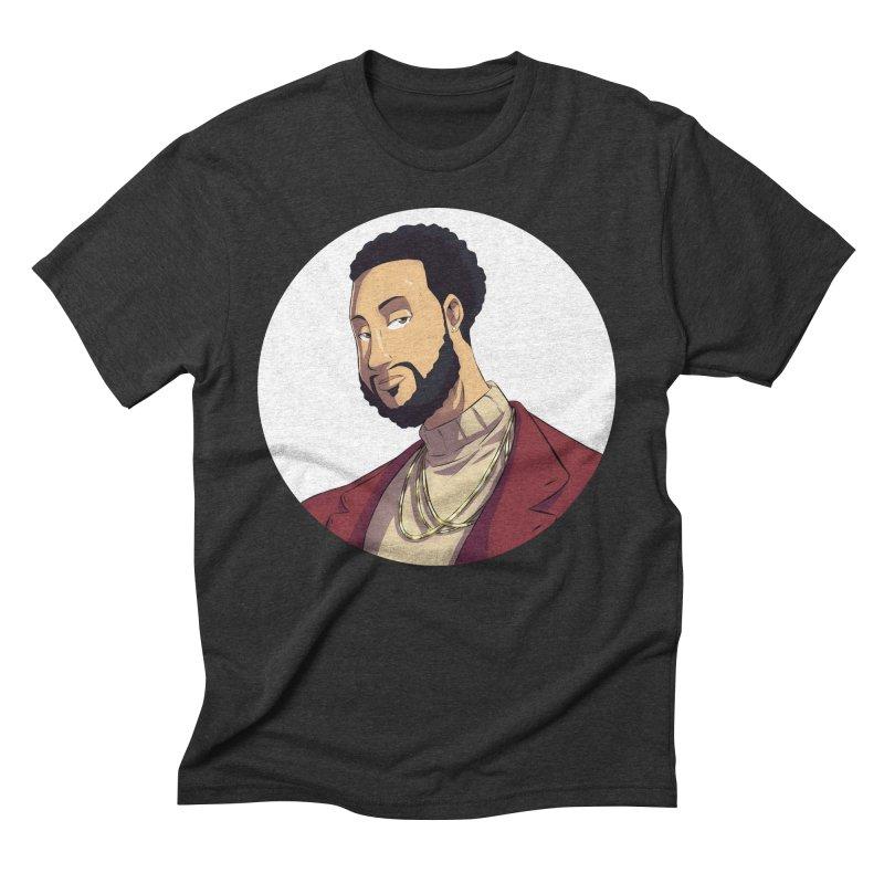Portrait | Created by @cknightart Men's Triblend T-Shirt by Eric Washington's Merch Shop
