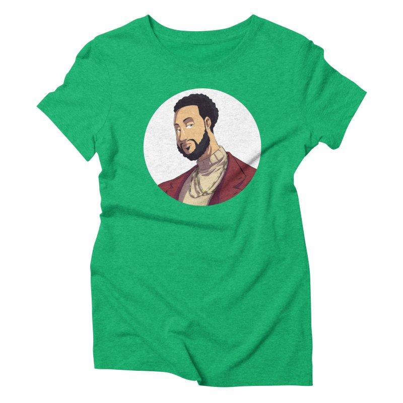 Portrait | Created by @cknightart Women's Triblend T-Shirt by Eric Washington's Merch Shop