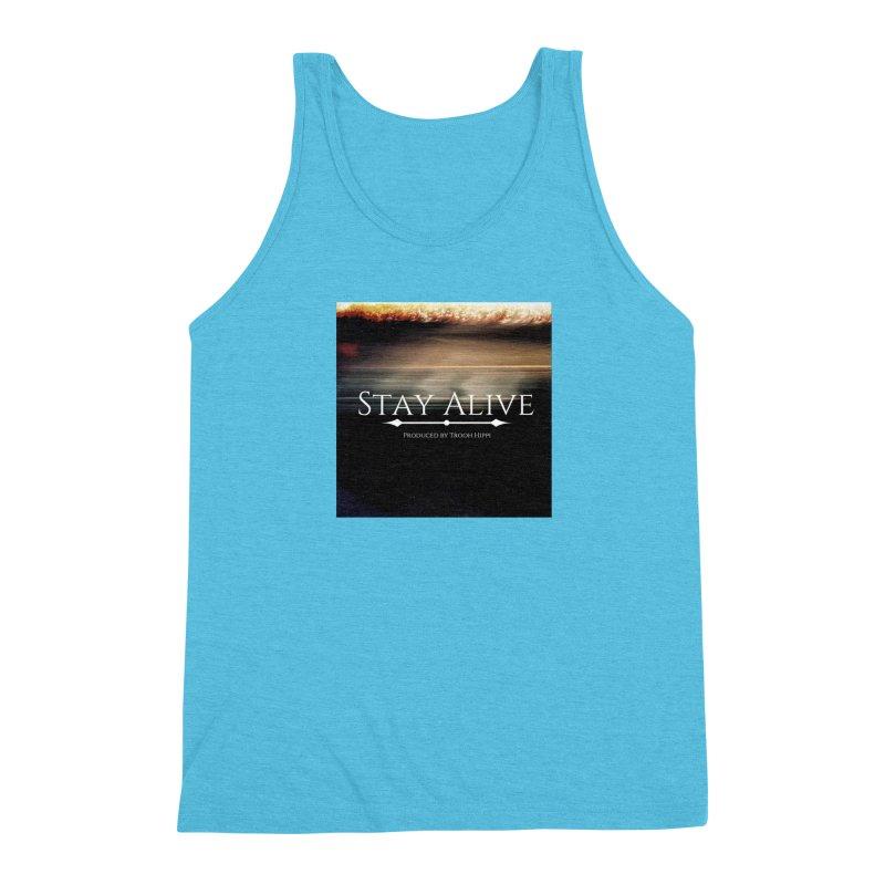 Stay Alive Men's Triblend Tank by Eric Washington's Merch Shop