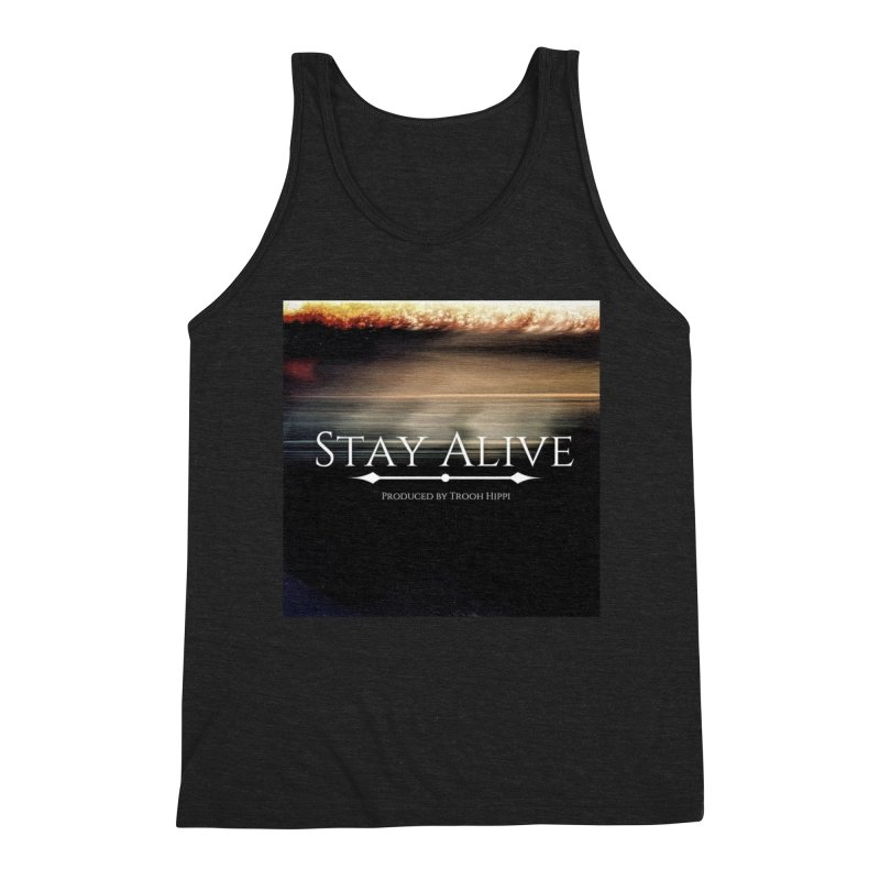 Stay Alive Men's Triblend Tank by Eric Washington's Merch Shop