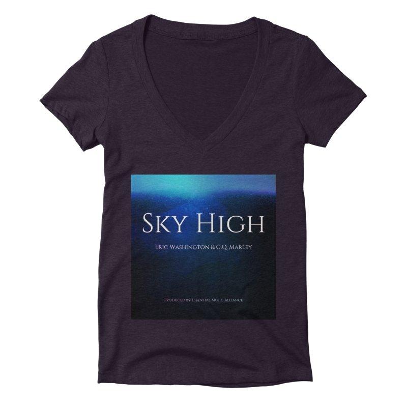 Sky High Women's Deep V-Neck V-Neck by Eric Washington's Merch Shop
