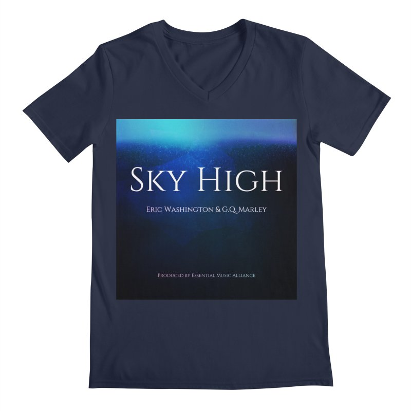 Sky High Men's Regular V-Neck by Eric Washington's Merch Shop