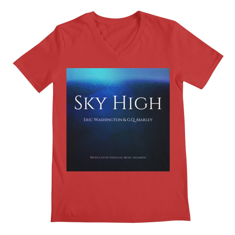 Sky High Men's Regular V-Neck by Eric Washington's Merch Shop