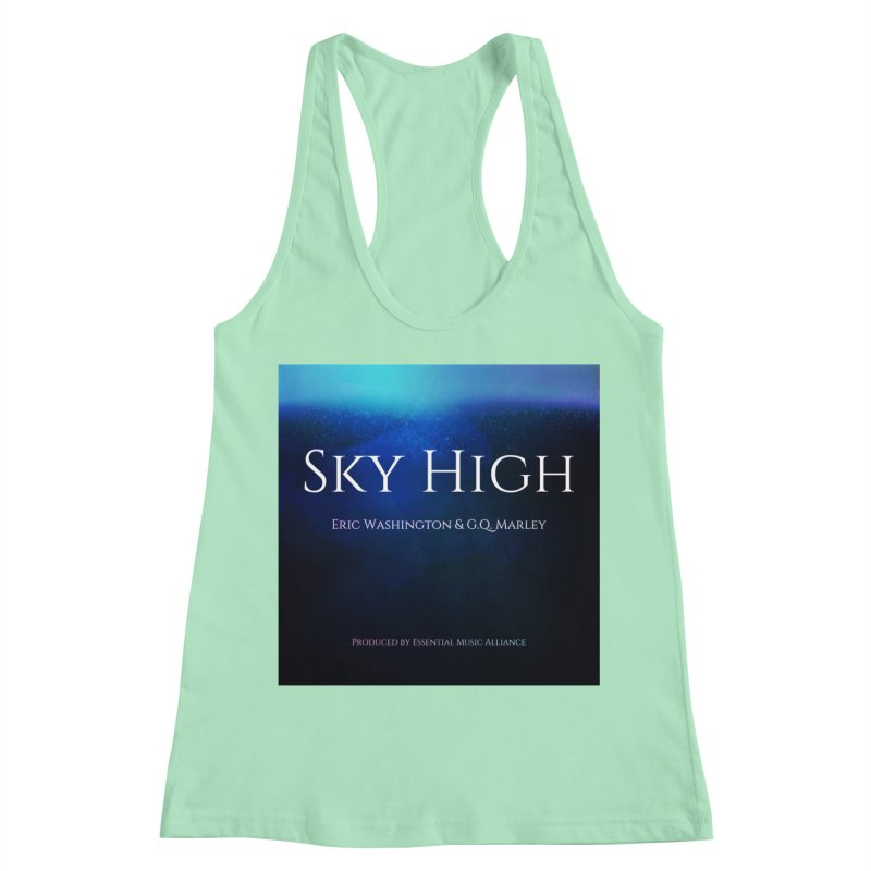Sky High Women's Racerback Tank by Eric Washington's Merch Shop