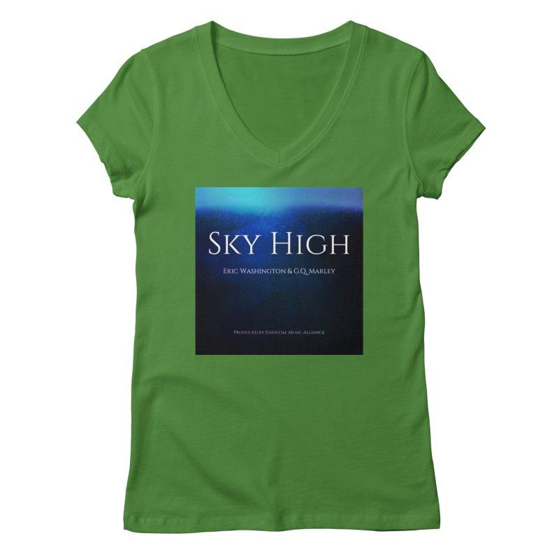 Sky High Women's Regular V-Neck by Eric Washington's Merch Shop