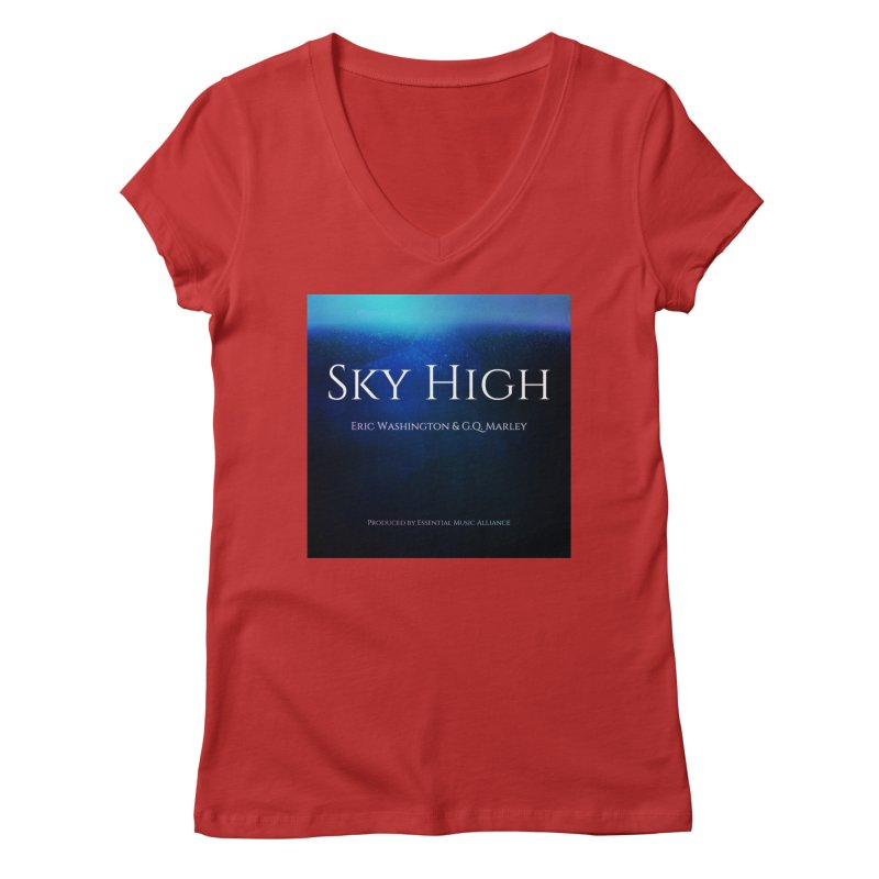 Sky High Women's Regular V-Neck by Eric Washington's Merch Shop