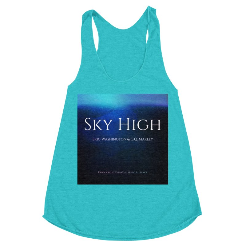 Sky High Women's Racerback Triblend Tank by Eric Washington's Merch Shop