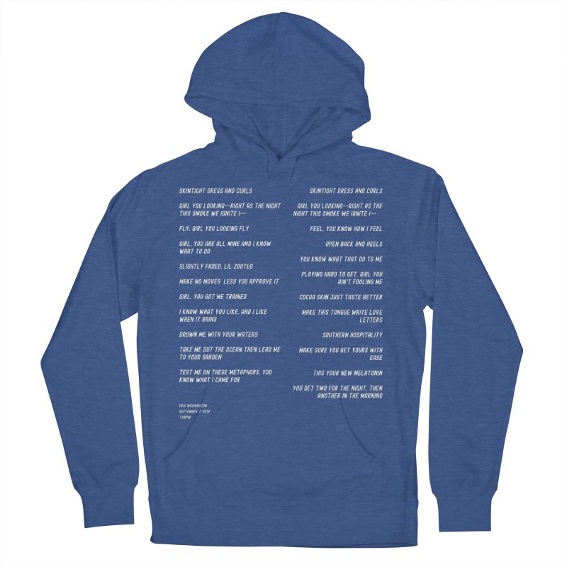 Lover Men's French Terry Pullover Hoody by Eric Washington's Merch Shop