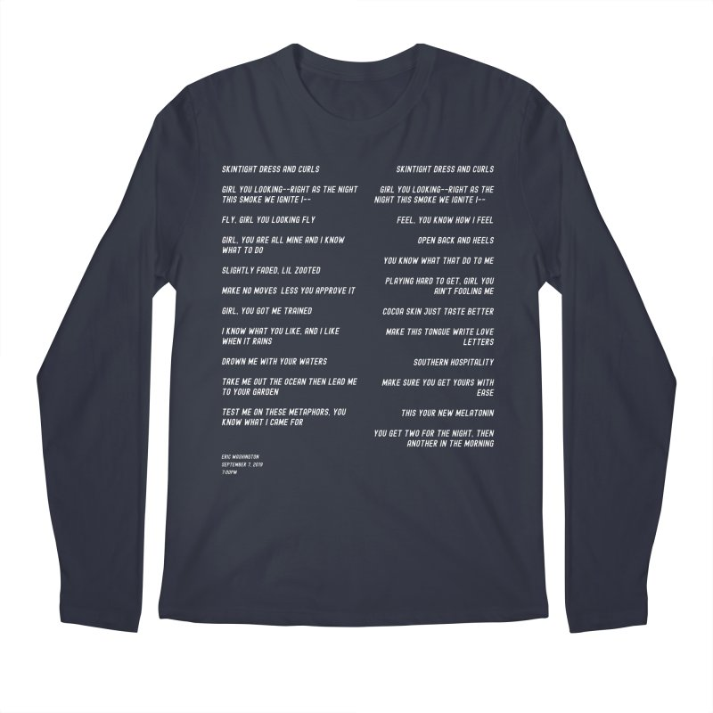 Lover Men's Regular Longsleeve T-Shirt by Eric Washington's Merch Shop