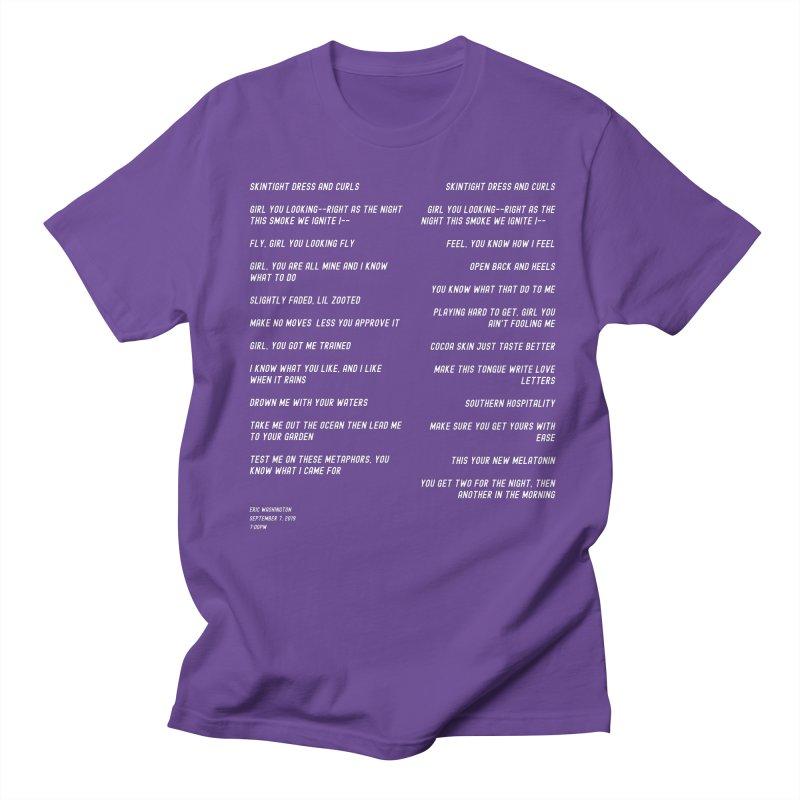 Lover Women's Regular Unisex T-Shirt by Eric Washington's Merch Shop