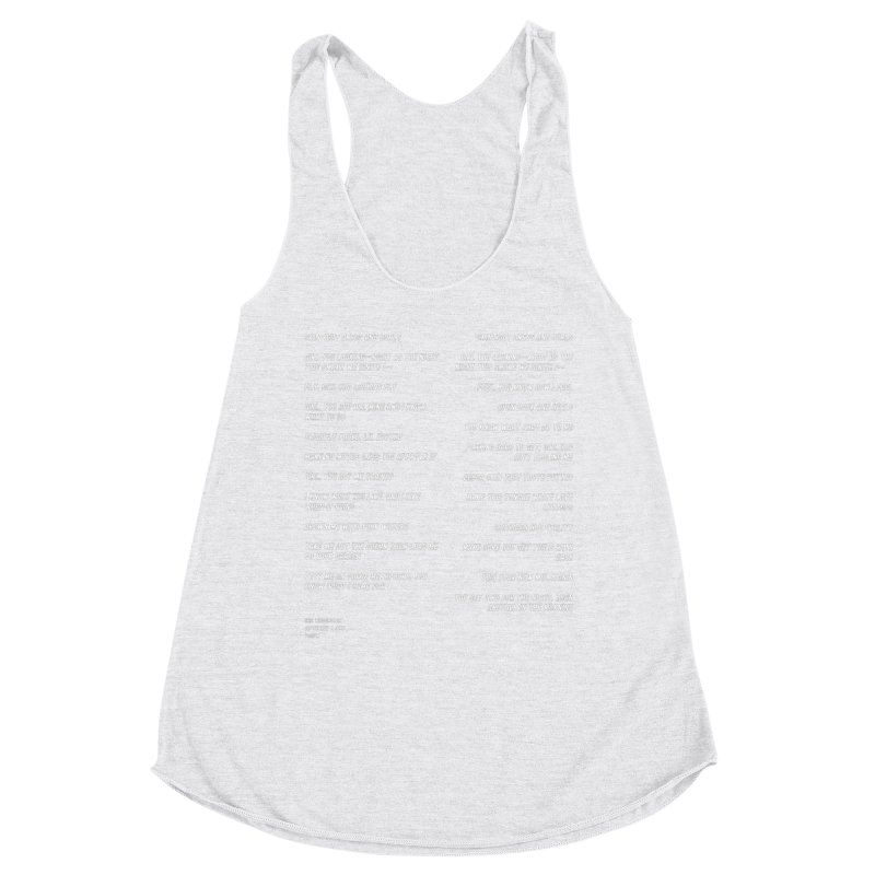 Lover Women's Racerback Triblend Tank by Eric Washington's Merch Shop