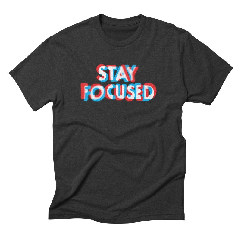 Stay Focused in Men's Triblend T-shirt Heather Onyx by Eric Zelinski (EZFL)
