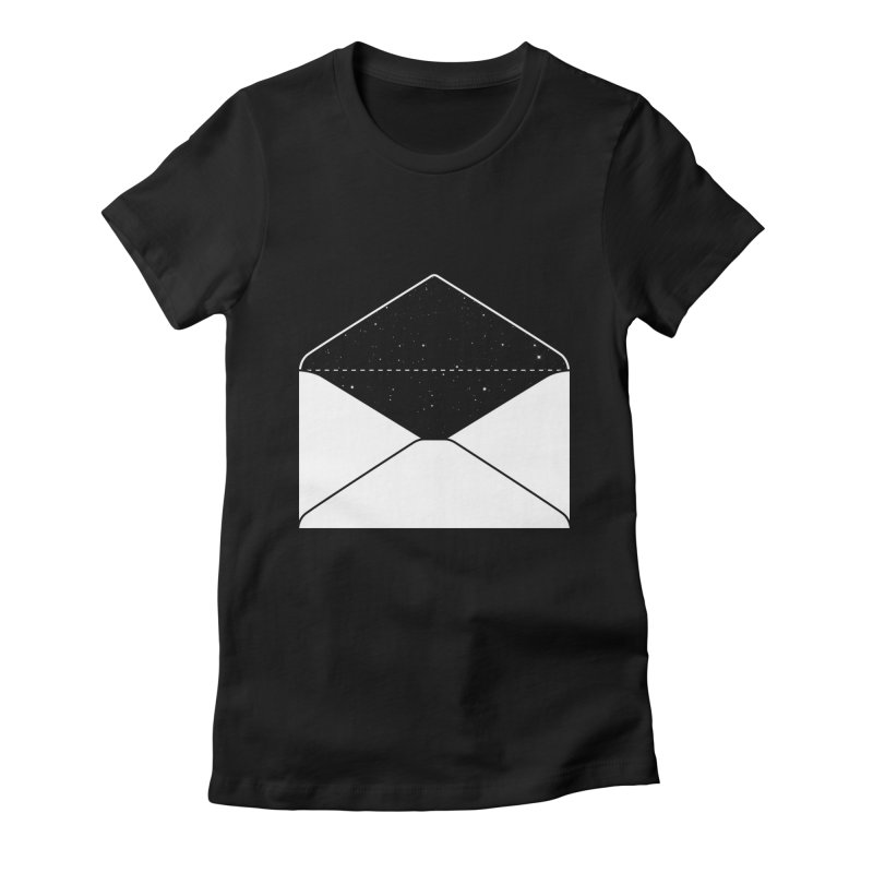 Space Mail Women's Fitted T-Shirt by Eric Zelinski (EZFL)