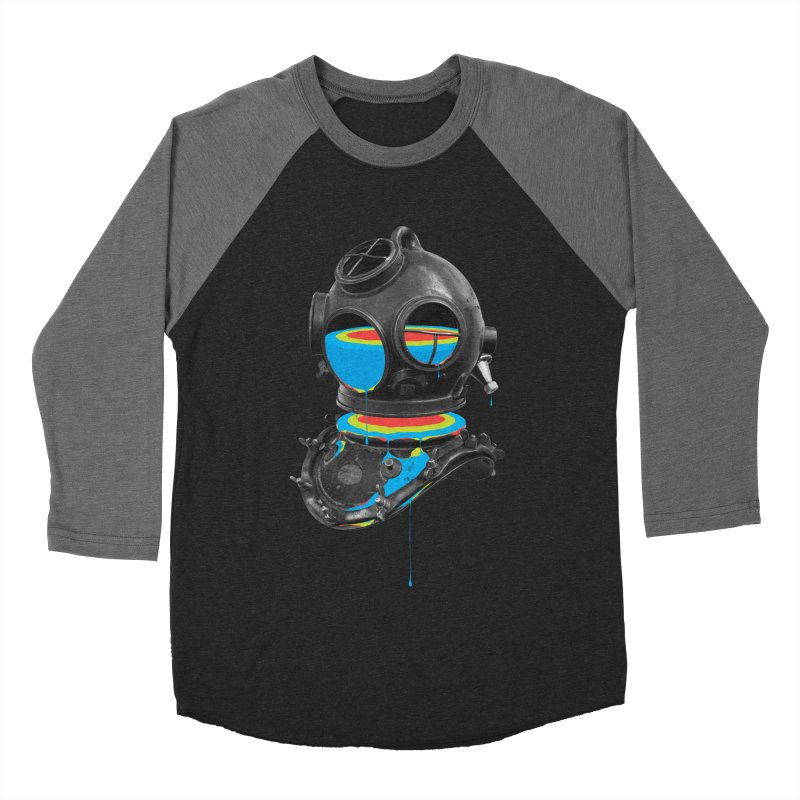 Diver No.12 Men's Baseball Triblend T-Shirt by Eric Zelinski (EZFL)