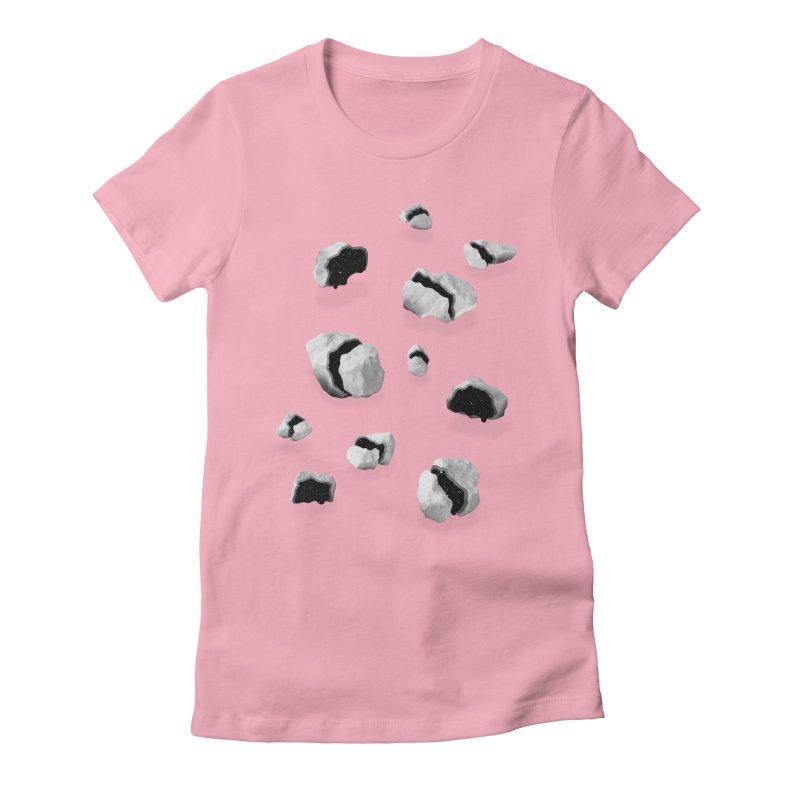 Space Rocks Women's Fitted T-Shirt by Eric Zelinski (EZFL)