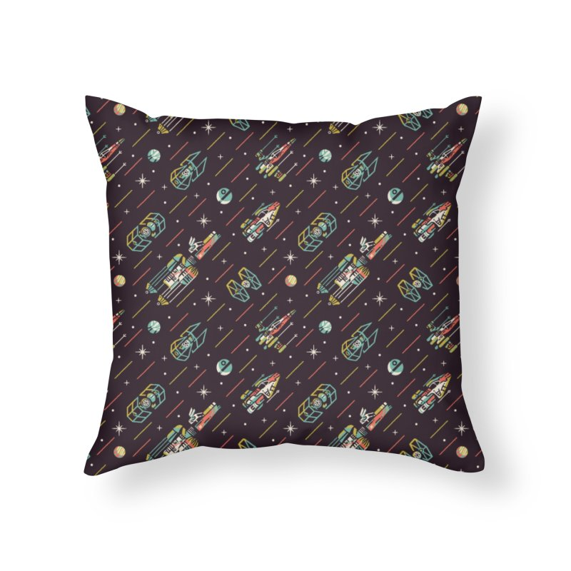 Funky Wars Home Throw Pillow by Sam and Erikas
