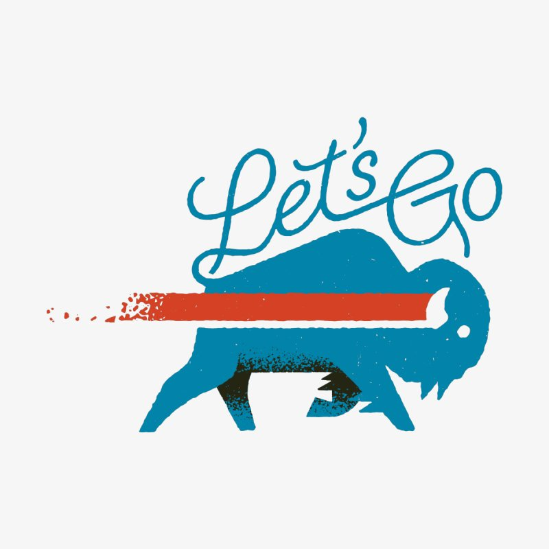 Let's Go Buffalo Men's T-Shirt by Erikas