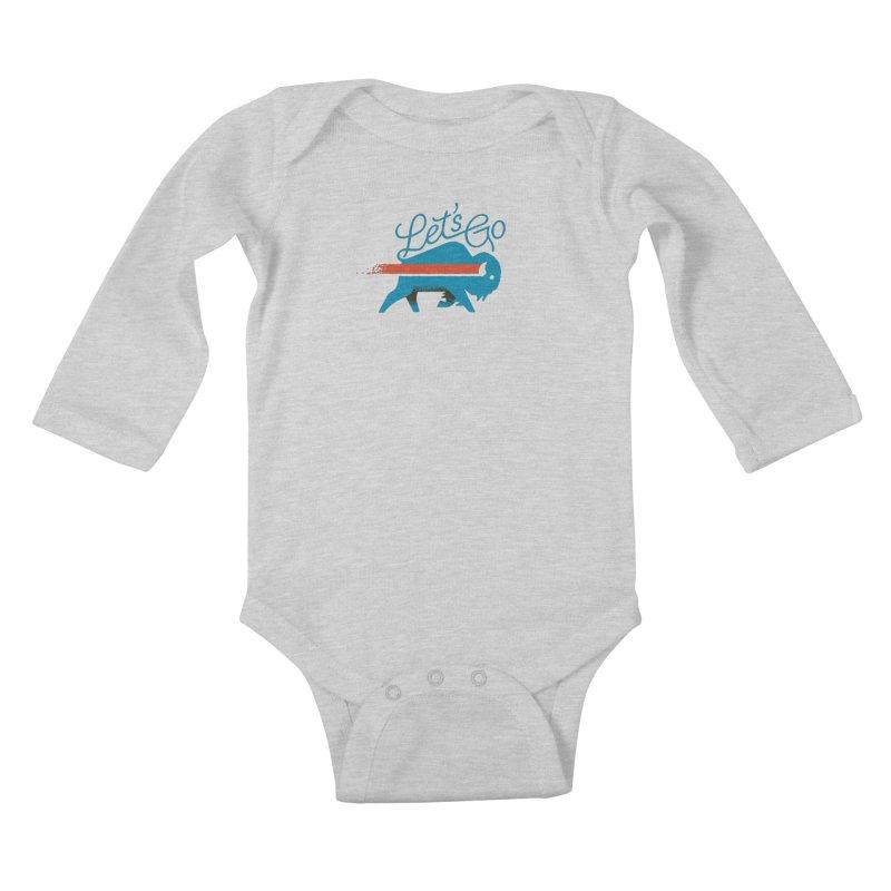 Let's Go Buffalo Kids Baby Longsleeve Bodysuit by Erikas