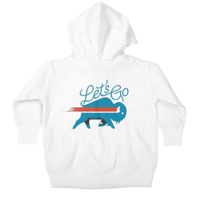Let's Go Buffalo Kids Baby Zip-Up Hoody by Erikas