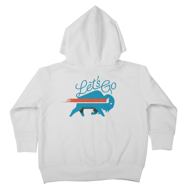 Let's Go Buffalo Kids Toddler Zip-Up Hoody by Erikas
