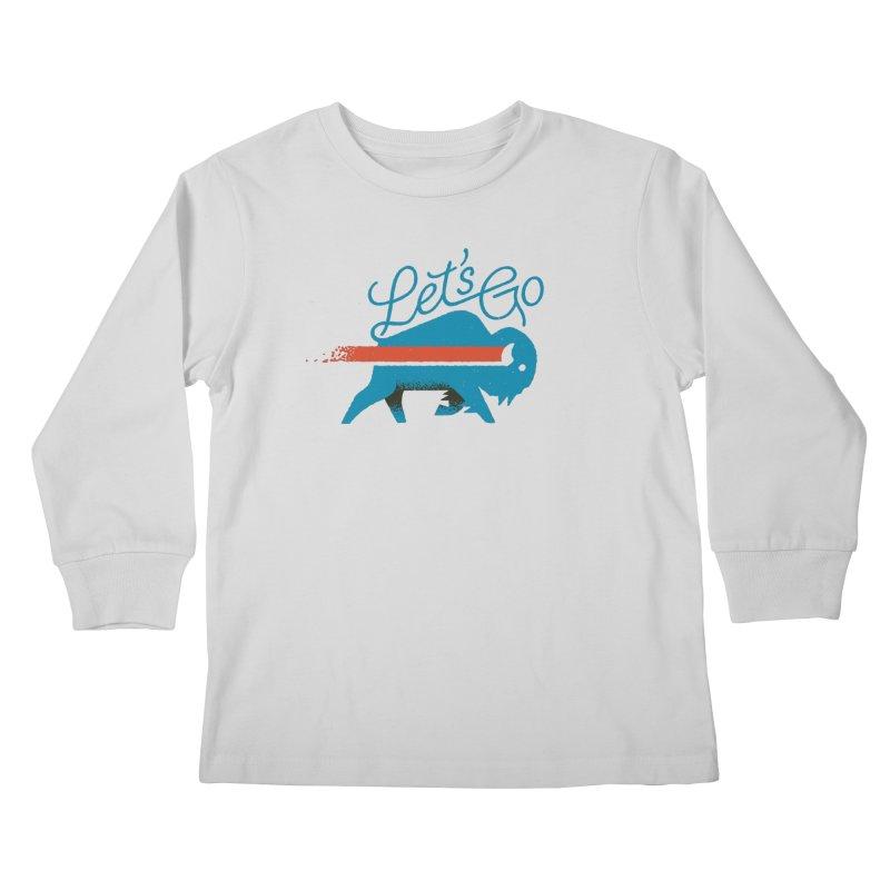 Let's Go Buffalo Kids Longsleeve T-Shirt by Erikas