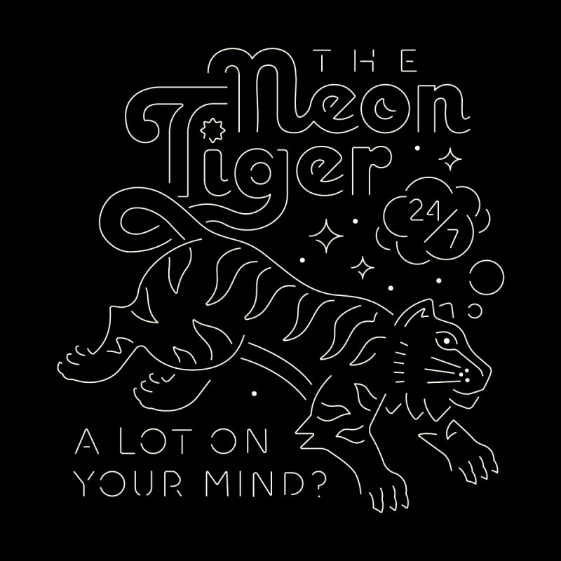 Neon Tiger Men's T-Shirt by Erikas