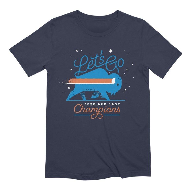 Buffalo Bills 2020 AFC East Champions Men's T-Shirt by Erikas