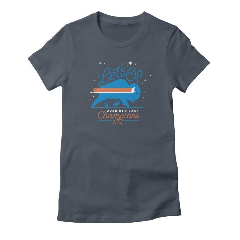Buffalo Bills 2020 AFC East Champions Women's T-Shirt by Erikas