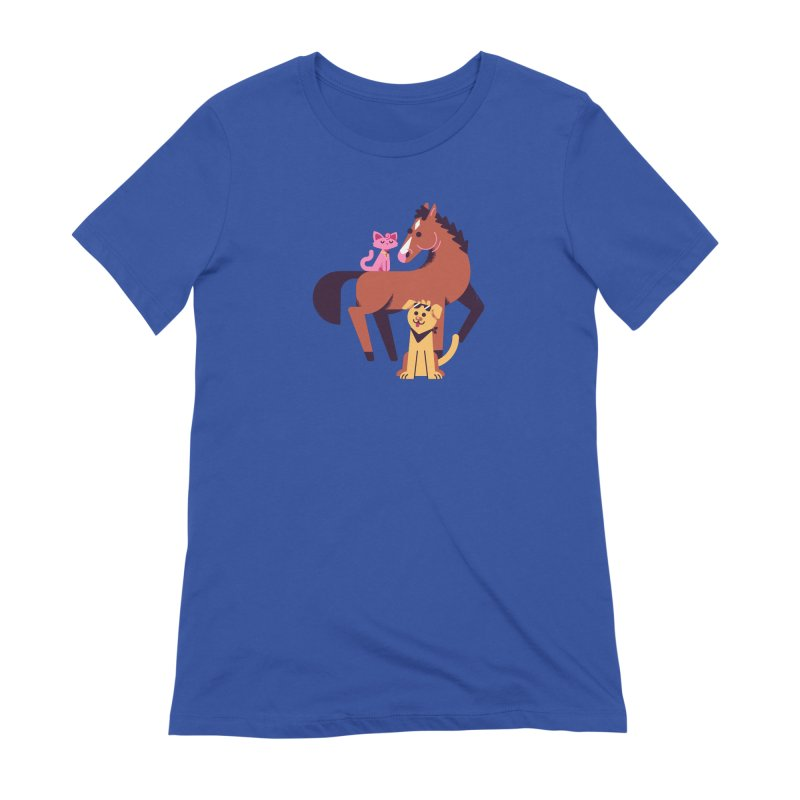 Depressed Horse & Friends Women's T-Shirt by Erikas