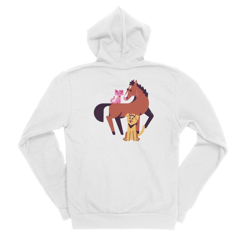 Depressed Horse & Friends Men's Zip-Up Hoody by Erikas