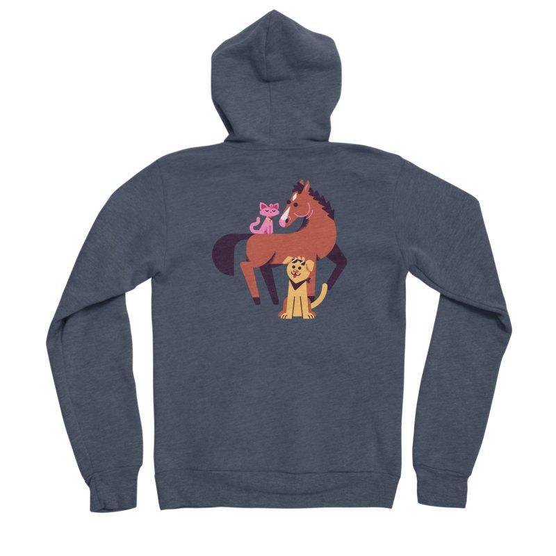 Depressed Horse & Friends Women's Zip-Up Hoody by Erikas
