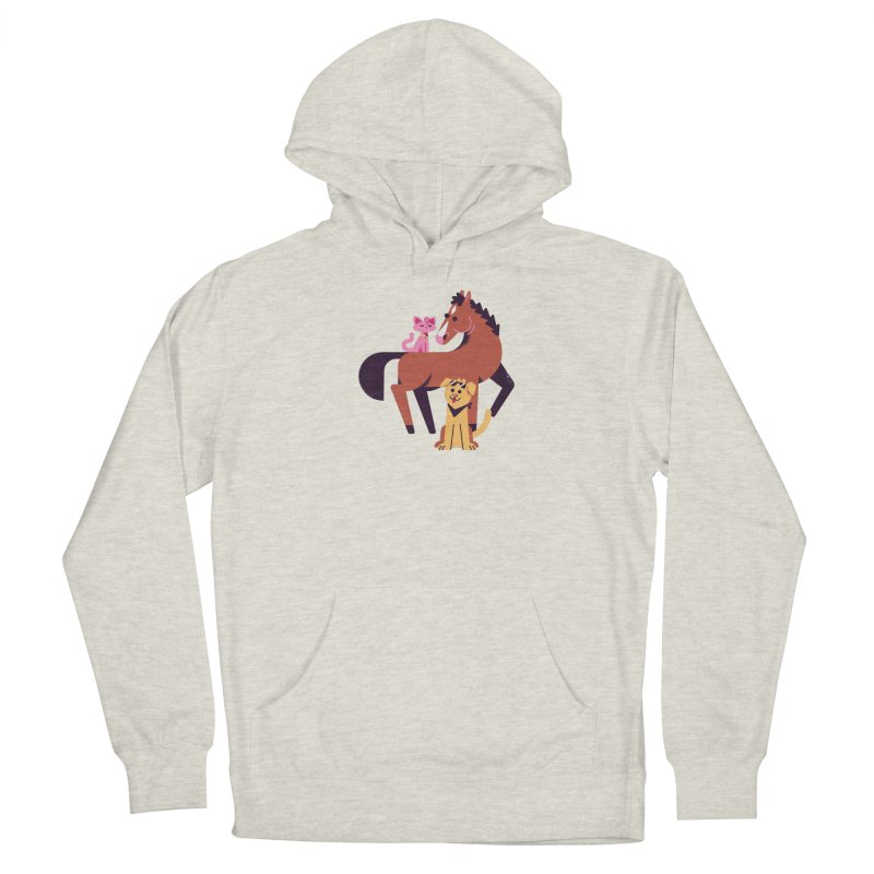 Depressed Horse & Friends Men's Pullover Hoody by Erikas