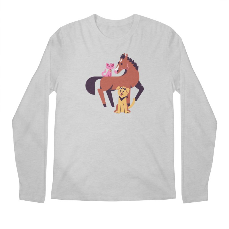 Depressed Horse & Friends Men's Longsleeve T-Shirt by Erikas