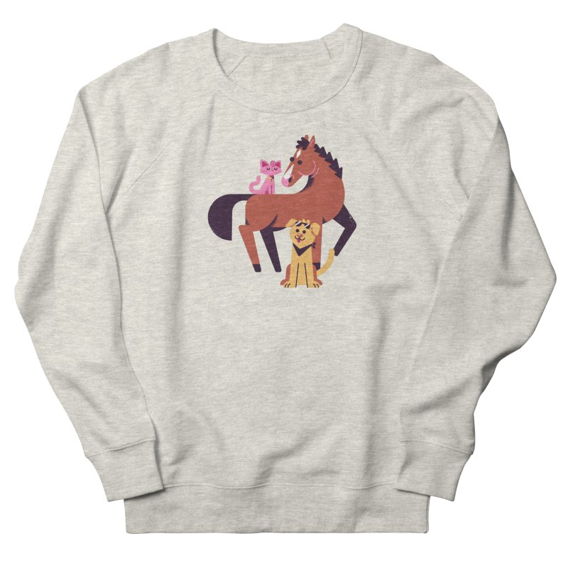 Depressed Horse & Friends Men's Sweatshirt by Erikas