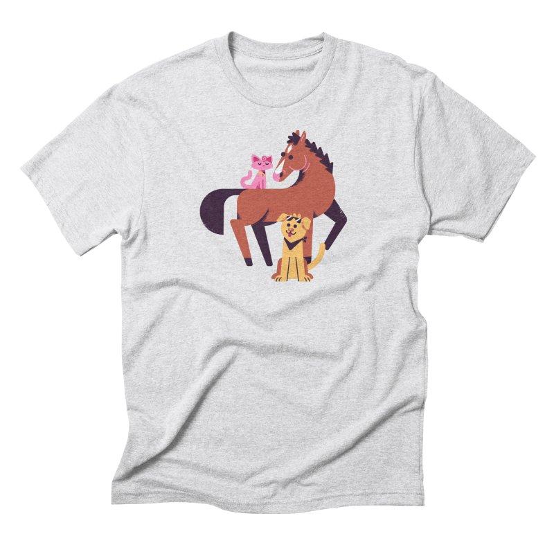 Depressed Horse & Friends Men's T-Shirt by Erikas