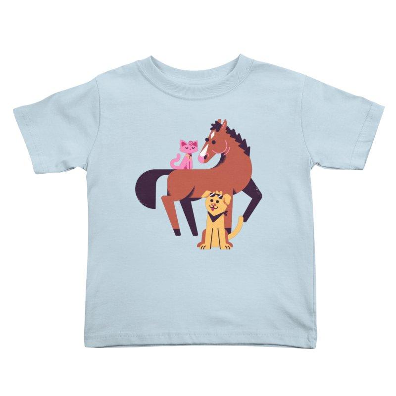 Depressed Horse & Friends Kids Toddler T-Shirt by Erikas