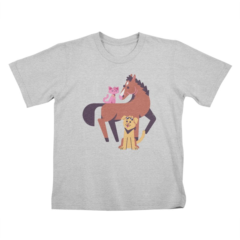 Depressed Horse & Friends Kids T-Shirt by Erikas