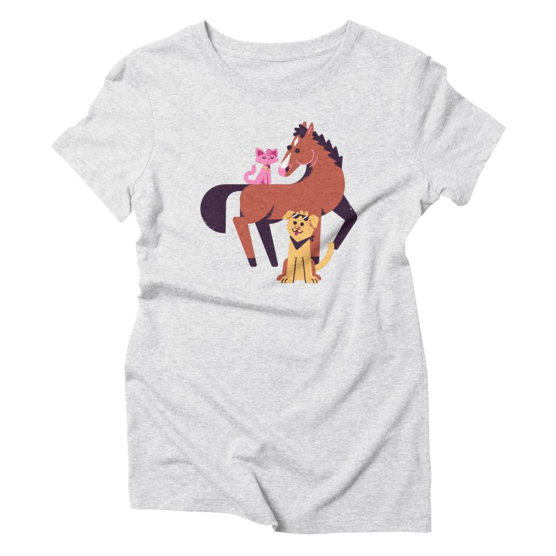 Depressed Horse & Friends Women's T-Shirt by Erikas