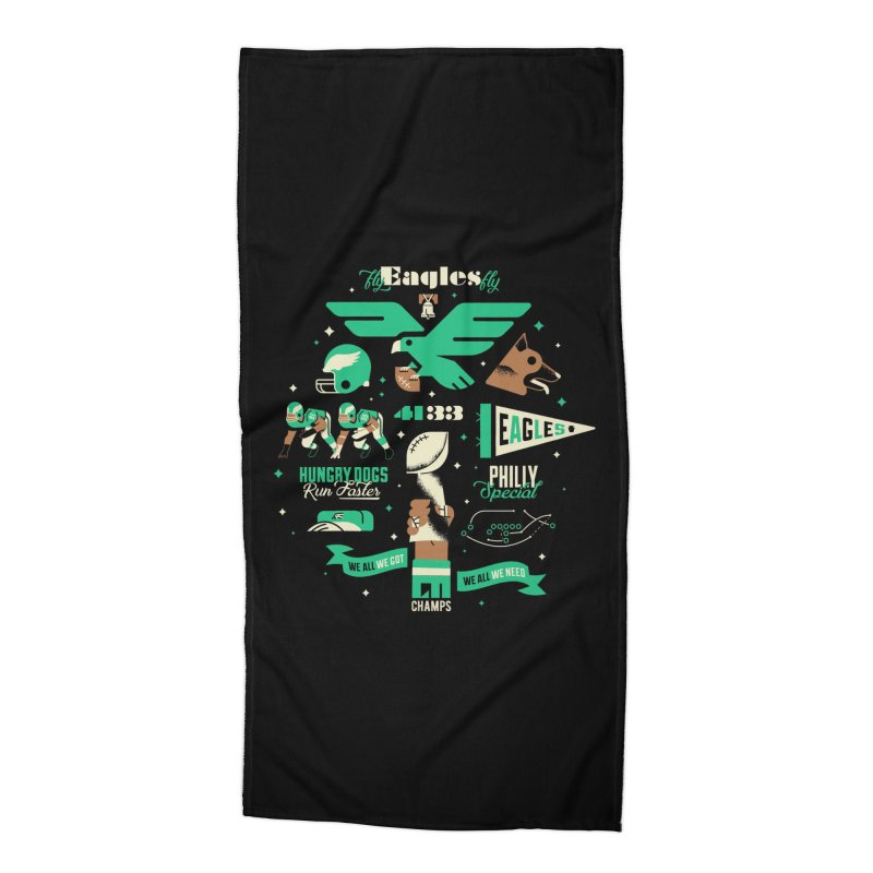 Eagles - SBLII Champs Accessories Beach Towel by Erikas