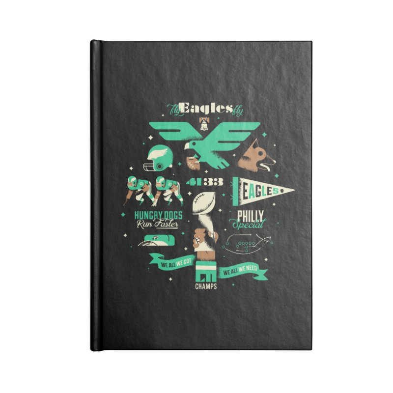 Eagles - SBLII Champs Accessories Notebook by Erikas