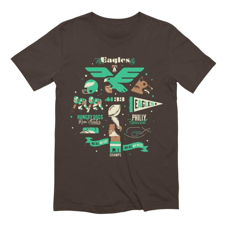 Eagles - SBLII Champs Men's T-Shirt by Erikas