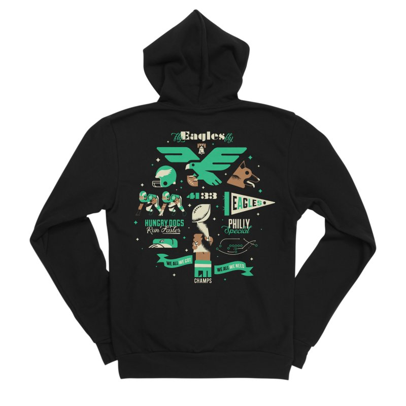 Eagles - SBLII Champs Women's Zip-Up Hoody by Erikas