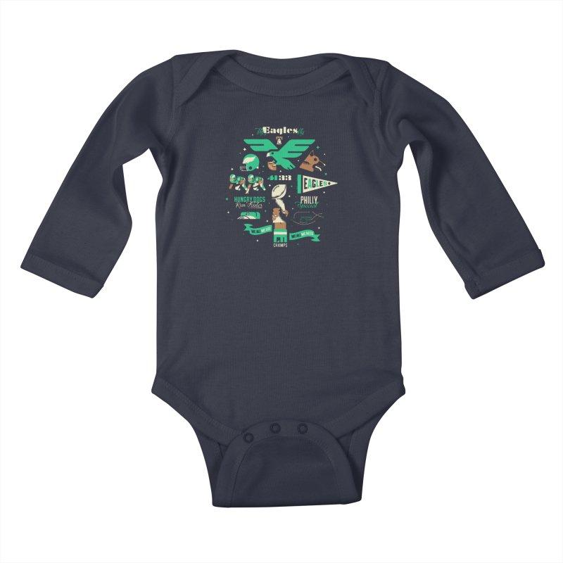 Eagles - SBLII Champs Kids Baby Longsleeve Bodysuit by Erikas