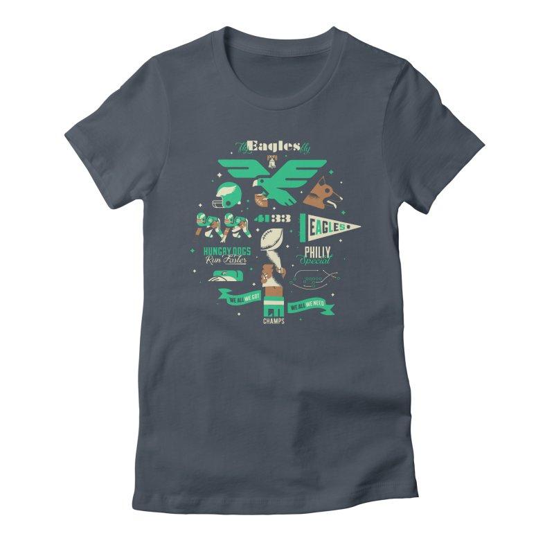 Eagles - SBLII Champs Women's T-Shirt by Erikas